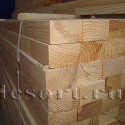 Строганый брус естественной влажности 100x200x6000